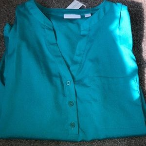 NY&co teal blouse
